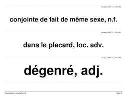 lgbt terms in french word wall or mur de mots lexique lgbt tpt