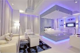 beautiful white purple wood glass luxury design small bedroom
