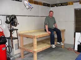garage workbench corner workbench for garage plans in diy wood