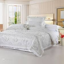 Luxury White Bed Linen - luxury white beddings full or queen size of soft silk floss by