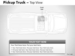 board pickup brown truck top view powerpoint slides and ppt