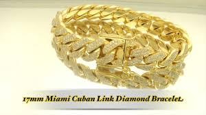 gold link bracelet with diamonds images 17mm 19 5ct hand set diamond miami cuban link gold bracelet hd jpg