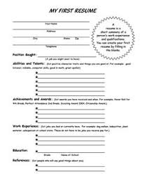 Kids Resume Sample by Blank Resume Template For High Students Http Www