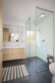 best ideas about glass shower walls pinterest restroom this contemporary bathroom has glass shower stall with rain head and
