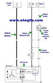 diagram kelistrikan kabel dinamo ampere suzuki carry 1 5