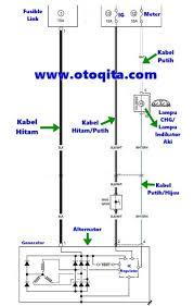 diagram kelistrikan kabel dinamo ampere suzuki carry 1 5