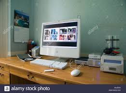 Large Home Office Apple Imac 24 Computer With Integral Large Screen In A Home Office
