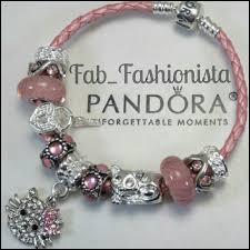 pandora leather bracelet pink images Pandora bracelet pink jpg