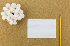 wallpaper stationary on cork board stock photo image 55060188