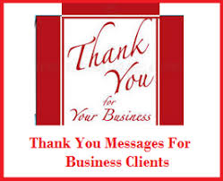 thank you messages customers