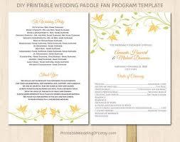 Wedding Program Template Fan 14 Best Wedding Program Images On Pinterest Fan Programs