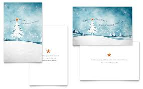 winter landscape greeting card template word publisher