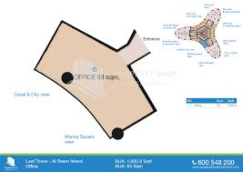 office 1000 9 sqft e leaf tower u2013 floor plan al reem island u2013 al
