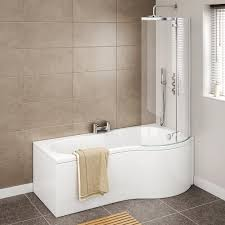 cruze p shaped shower bath 1700mm with hinged screen panel cruze p shaped shower bath 1700mm with hinged screen panel