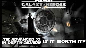 star wars galaxy of heroes tie advanced x1 in depth review is it