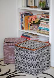 make this custom storage ottoman diy paper and stitch