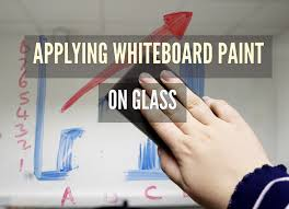 applying whiteboard paint on glass smarter surfaces