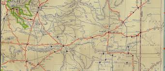 Map Route 66 by Vintage Road Map Route 66