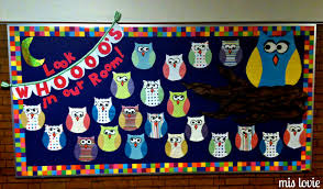 Welcome Back Party Ideas by Miss Lovie Owl Bulletin Board And Scallop Bunting Tutorial