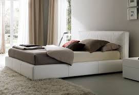 rishon king size modern design white leather platform bed also