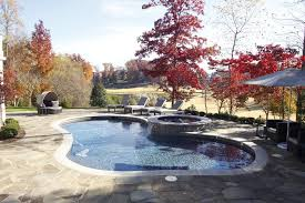pool bean bags pool traditional with waterfall neutral colors