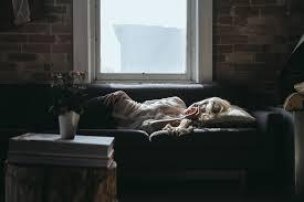 Sleeping On The Sofa Free Photo Woman Sleeping Sofa Home Free Image On Pixabay