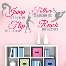 compare prices on wall decor quotes online shopping buy low price big 2 color gymnastics dance girls sports vinyl wall decor mural quote decal princess room