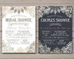 Couple Shower Invitations Vintage Lace Shower Invitation Bridal Couples Baby Printable