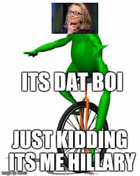 Meme Dat - dat boi meme its dat boi just kidding its me hillary picsmine