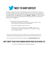 yearbook prices tweet to shop yearbook contest fhntoday