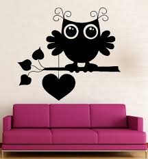 Owl Wall Sticker Popular Owls Heart Sticker Buy Cheap Owls Heart Sticker Lots From