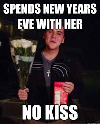 Kiss Meme - spends new years eve with her no kiss friendzone johnny quickmeme