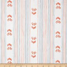 cycles of life bike lane stripe white discount designer fabric