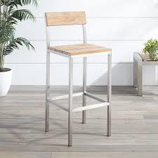 Grade A Teak Patio Furniture by Macon Teak Outdoor Bar Chair Whitewash Outdoor