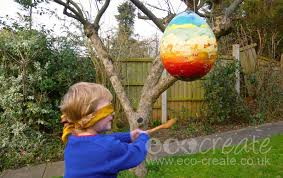 easter egg pinata magazine piñata upcycling kids projects ecocreate