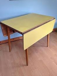retro yellow kitchen table vintage table centa retro formica small fold down yellow fifties or