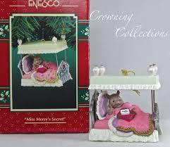 Christmas Mice Decorations Enesco Miss Merry U0027s Secret Mouse Ornament Series 7 Treasury Of