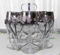unique shaped wine glasses silver fade wine glasses and caddy cool finds