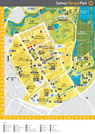 14 olympic park map homebush olympic park map