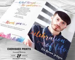 printing funeral programs interlocking circles modern funeral program funeral folder
