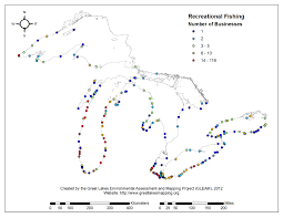 The Great Lakes Map Recreational Fishing Gleam