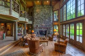country livingrooms country living room with hardwood floors columns in bigfork mt
