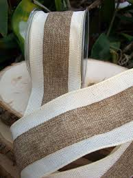 burlap wired ribbon burlap ribbon white and ivory 3in x 10 yds burlap ivory and yards