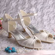 wedding shoes low heel ivory more colorscustom heel fashion low heel dress bridal shoes for