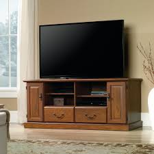 Entertainment Center Credenza Amazon Com Sauder Orchard Hills Tv Stand In Milled Cherry