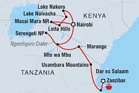 Map Of East Africa by Kenya Tours U0026 Travel Intrepid Travel Au