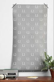 Chasing Paper Removable Wallpaper Paper Antlers Removable Grey Wallpaper