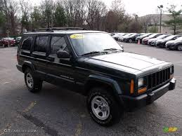 2000 forest green pearl jeep cherokee sport 4x4 22215905