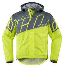 gear motorcycle jacket icon pdx 2 waterproof nylon motorcycle rain jacket hi viz
