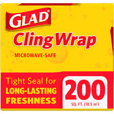 How Big Is 650 Sq Ft by Glad Clingwrap Plastic Wrap 200 Square Foot Roll Walmart Com